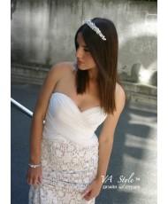 WD 137 Кружевное платье с драпировкой из шифона