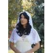 SHB 065 Венчальная накидка с капюшоном белая кружево