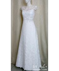 WD 150 Свадебное платье белое с рукавчиком кружево