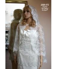 SHB 072 Венчальная накидка с капюшоном в цвете айвори-шампань