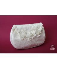 S 062 Свадебная сумочка кружевная айвори