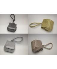 S 033 Вечерняя сумочка-бочёнок с блеском в разных цветах