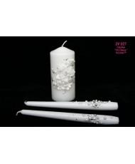 SV 027 Набор свадебных свечей семейный очаг белые