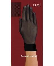 PR 081 Перчатки черные из сеточки с атласным манжетом