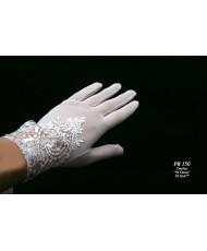 PR 150 Перчатки белые из сеточки с декором