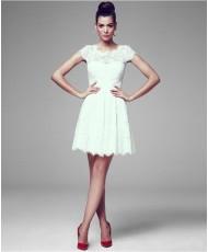 WD 209 Платье короткое кружевное с рукавчиком