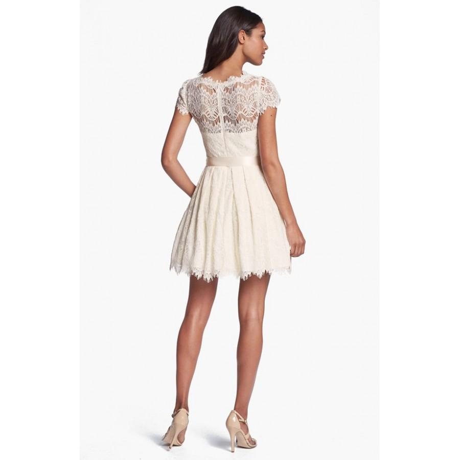 cb5232fca0f WD 139 Кружевное короткое платье с рукавами шифон ПОДРОБНЕЕ