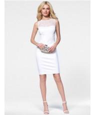 Белое Кружевное Платье Футляр 58