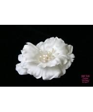 SH 516 Цветок атласный мак в цвете айвори
