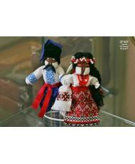 """ST 023 Украинские куколки-мотанки """"неразлучники"""" статуэтка для торта-сувенир"""
