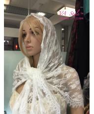 NK 042 Молочный платок кружево