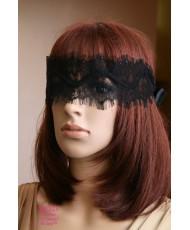 SH 523  Кружевная повязка-маска черная