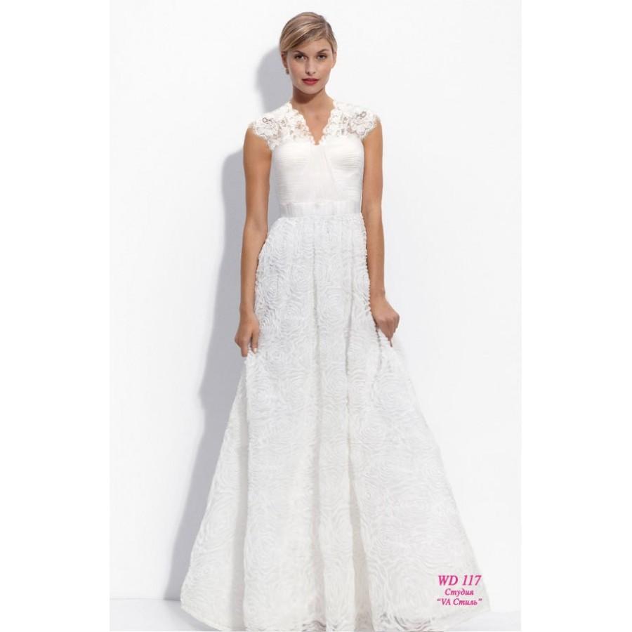 свадебное платье на венчание с рукавом