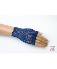 PR 163 Перчатки-митенки синие