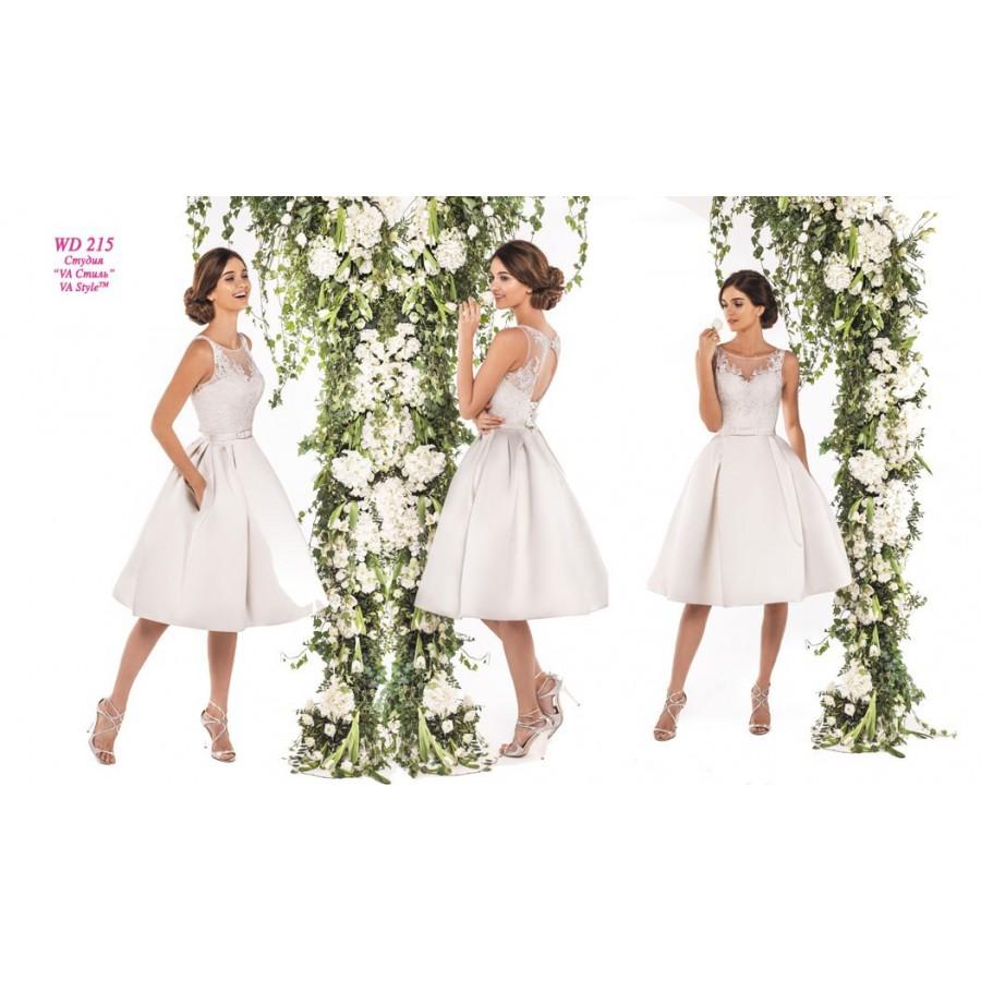 75e984b7baf WD 215 Короткое свадебное платье с кружевным верхом ПОДРОБНЕЕ