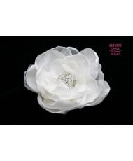 Цветок с серединкой из страз айвори GR 089