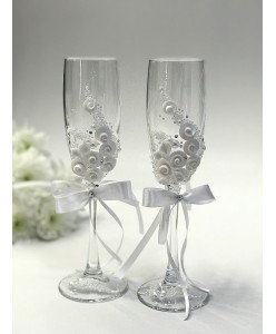 B 059-1 Свадебные бокалы невысокие