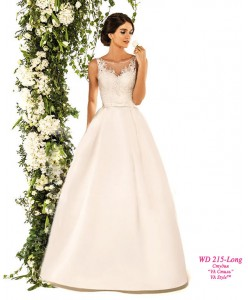 WD 215-Long Платье атлас с карманами