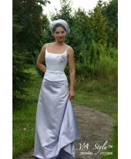 V 047 Платье бело-лилового цвета 44-46р