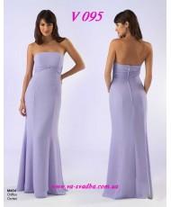 Платье вечернее лилового цвета V 095