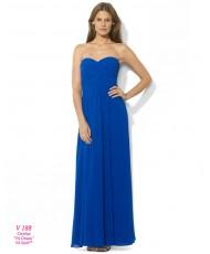 V 188 Синее платье из шифона в пол