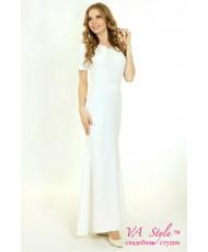 WD 255 Платье-годэ с рукавами с поясом