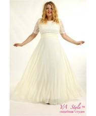 WD 256-XL Платье с кружевным рукавами и шифоном