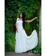 WD 257 Платье корсетное из шифона с летящей юбкой