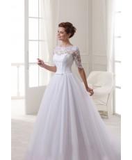 WD 268 Платье свадебное с рукавчиком пышное