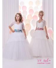 DP 313 Платье детское пышное с кружевом