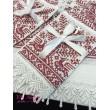 PL 067-red Набор венчальный белый с красным крестик вышивка
