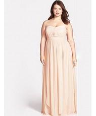 V 199 Платье из шифона цвета пудры в 54р