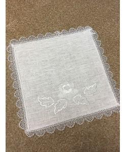 PL 083-2 Платочек лен с вышивкой
