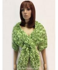SHB 034-1 Накидка меховая светло-зеленого цвета
