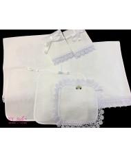 PL 096-white  Венчальный набор белые птички крестик