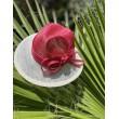 SH 584 Шляпа из соломки бело-розовая