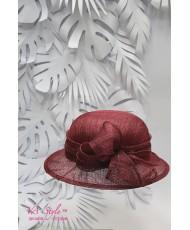 SH 586 Бордовая шляпка с небольшими полями