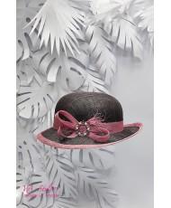 SH 585 Шляпка с небольшими полями в цвете антрацит-сирень