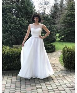 WD 271 Платье кружево и шифон молочное