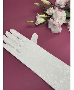 PR 134-long Перчатки из вышитой сеточки
