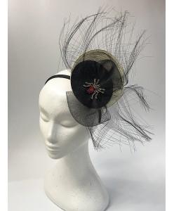 SH 592 Ободок-шляпка с паучком