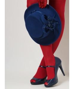 SH fetr 003 Шляпа из фетра синяя