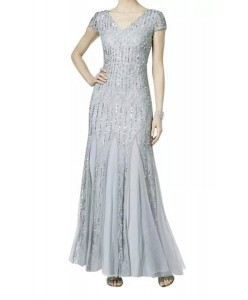 V 206  Платье с паетками и кружевом