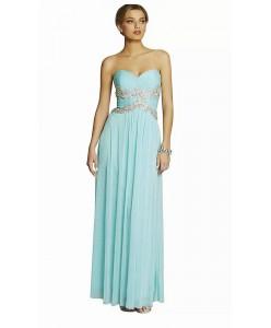 V 216 Платье мятное со стразами в пол