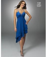 V 028  Платье из шифона бирюзовое