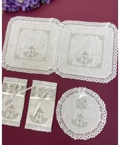 PL 118 Міні-набір платочків льон платина