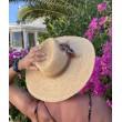 SH 679 Соломенная шляпа федора с полями