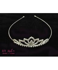 D 084 Диадема-корона маленькая в серебре