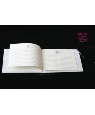 Атласная свадебная книга белого цвета  KN 026