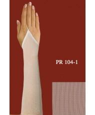Перчатки из сеточки молочного цвета без пальцев, выше локтя PR 104-1